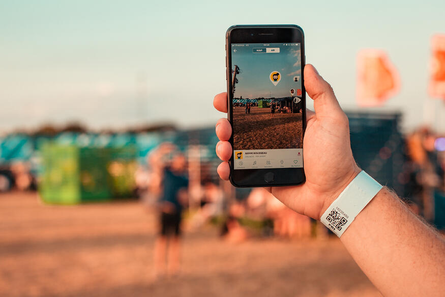 Festival app augmented reality
